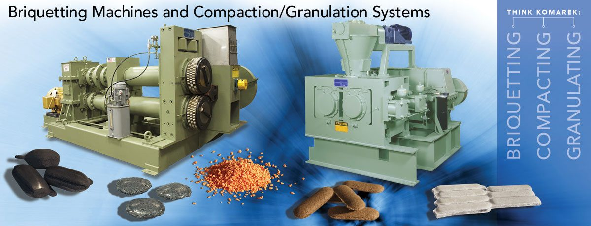 K.R. KOMAREK Briquetting and Compacting Machines
