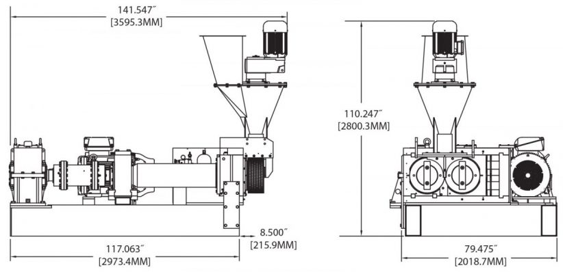 BH400CH Briquetting Machine Diagram