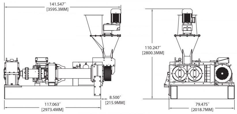BH400CH Briquetting Machine Diagram