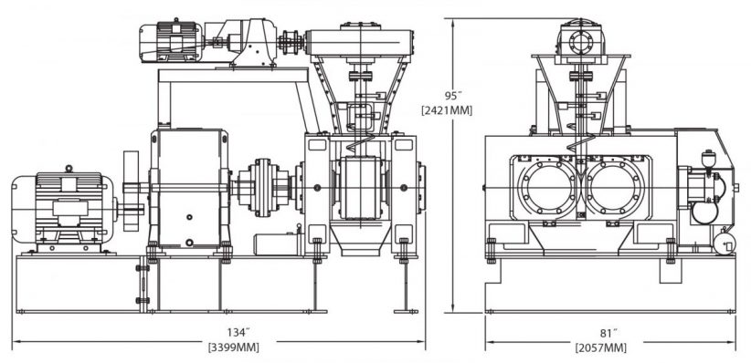 DH400 Briquetting Machine Diagram